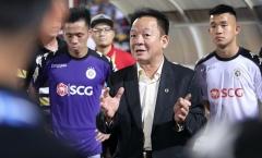 Bầu Hiển 'kích hoạt' tâm lý chiến của Hà Nội FC trước trận gặp Shandong Luneng