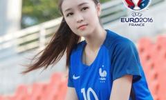 Hot girl Trung Quốc ủng hộ ĐT Pháp vô địch EURO 2016