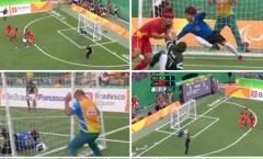 Cầu thủ khiếm thị tái hiện Ronaldinho ghi bàn hạ đẹp Trung Quốc