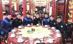 Các tuyển thủ U23 rạng rỡ trong ngày hội quân với CLB