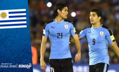 Đội hình ĐT Uruguay tham dự World Cup 2018