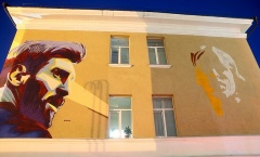 Sau Ronaldo & Messi, tới lượt Modric có bức tranh trên tường khổng lồ