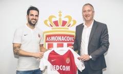 Fabregas nhận số áo mới tại Monaco, không phải số 4