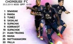 CHÍNH THỨC: Xuân Trường đá chính cho Buriram trong trận mở màn Thai-League