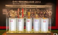 Phòng truyền thống Bayern Munich đẹp rạng ngời với vô vàn danh hiệu
