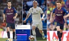 Barcelona thống trị Champions League 2018/19 về khả năng 'chuyền bóng'