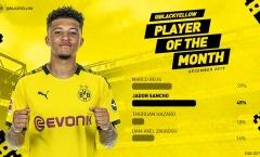 4 bàn + 3 kiến tạo, 'máy chạy' 120 triệu được Dortmund vinh danh xứng đáng