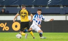 Hồi hộp chờ Văn Hậu xuất trận cùng SC Heerenveen