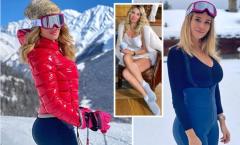 Mạo hiểm, nữ MC 'vạn người mê' đi trượt tuyết giữa tâm dịch COVID-19