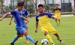 U19 Việt Nam nhận trái đắng trong trận đấu tập với Á quân Hạng Nhất
