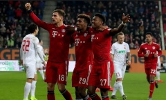 Ngược dòng hạ Augsburg, Bayern chỉ còn kém Dortmund 2 điểm