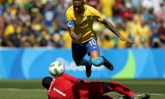 Neymar lập kỷ lục Olympic trong trận Brazil đại thắng Honduras