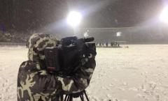 Chủ nhà Trung Quốc dọn tuyết cho trận U23 Việt Nam - Uzbekistan