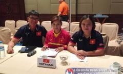 ĐT nữ Việt Nam thi đấu trang phục đỏ tại vòng bảng AFF Cup 2016