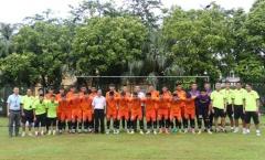 Lãnh đạo VFF động viên ĐT U16 quốc gia trước giờ tập luyện