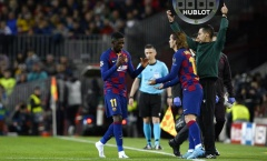 Vì sao Dembele nước mắt giàn giụa trong ngày Barca đại thắng?