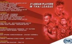 21 cầu thủ ASEAN tại Thai League: Philippines = Việt Nam + Indonesia + Myanmar