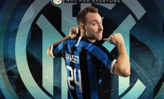 CHÍNH THỨC: Eriksen gia nhập Inter Milan, khoác số áo cựu sao Man Utd