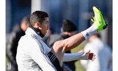 Ronaldo nghiêm túc tập luyện cùng dàn sao Juve