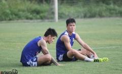 Tân binh của Hà Nội FC thư thái trong buổi tập trước trận đấu với Nam Định