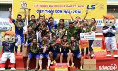 Kết thúc giải bóng đá Hội Nhà báo TP.HCM tranh Cup Thái Sơn Nam 2016