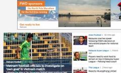 Báo châu Á 'mỉa mai' hành động đốt lưới nhà của cầu thủ Việt