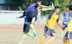 """Cầu thủ hạng nhì Bến Tre và Long An """"đấu võ"""" trước thềm mùa giải mới 2019"""