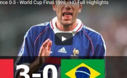 Trận cầu kinh điển: Brazil 0-3 Pháp (Chung kết WC 1998)