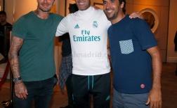 Beckham đến Mỹ thăm Real Madrid, tái ngộ huyền thoại Raul và Zidane