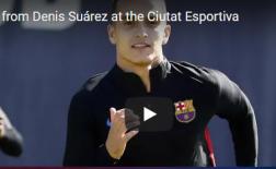 Denis Suarez khiến tất cả thán phục trên sân tập