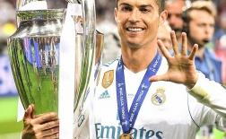 Ronaldo khoe chức vô địch Champions League thứ 5 trong sự nghiệp