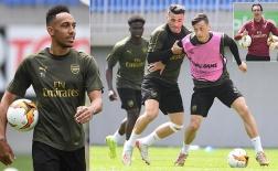 Vừa tới Baku, cầu thủ Arsenal đã lao vào tập luyện cật lực