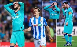 Lép vế toàn tập, Barcelona chia điểm cay đắng trước Real Sociedad