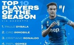 10 cầu thủ xuất sắc nhất Serie A 2019-20: Ronaldo chỉ xếp thứ 3, bất ngờ Ibrahimovic
