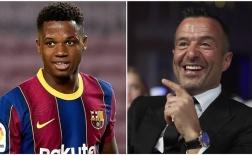 """Giữ chân """"thần đồng"""", Barca điêu đứng vì yêu sách của """"siêu cò"""" Jorge Mendes"""