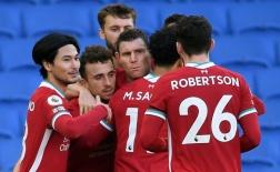Chấm điểm Liverpool trận Brighton: 'Đôi cánh' gây thất vọng