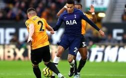 Đây, vẻ mặt của Mourinho khi chứng kiến bàn thắng kết liễu Wolves của học trò