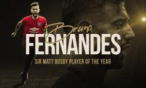 CHÍNH THỨC: Vượt Martial, Bruno Fernandes nhận giải thưởng cao quý tại Man Utd