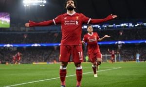Mohamed Salah 'lên đồng', Liverpool đánh bại AS Roma trong cơn mưa 7 bàn thắng