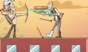 Biếm họa: Zidane, Simeone mải bắn nhau bằng súng nước, Suarez cắt đuôi đoàn tàu La Liga