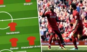 Liverpool dùng đội hình nào khi Mane, Keita vắng mặt?