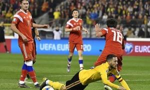 Hazard tỏa sáng, người Bỉ nhọc nhằn đánh bại 'Gấu Nga'