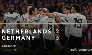 Highlights: Hà Lan 2-3 Đức (Vòng loại EURO 2020)