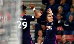 Người cũ Liverpool tỏa sáng, Bournemouth đánh bại Southampton ngay trên sân khách