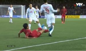 CHOÁNG! Lộ hình ảnh cực sốc hiệp 1 trận U22 Việt Nam - U22 Indonesia