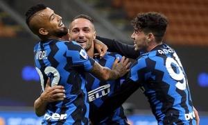 Rượt đuổi siêu kịch tính, Inter giành 3 điểm đầu tiên ở trận cầu 7 bàn