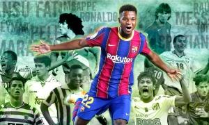 Ansu Fati và những cầu thủ thành danh trước khi bước qua tuổi 18