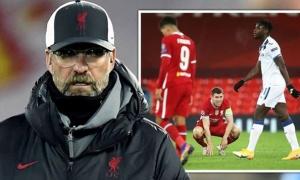 'Đây là trận đấu tệ hại nhất Liverpool dưới thời Jurgen Klopp'