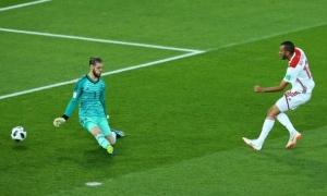 Bàn thắng vào lưới De Gea đánh dấu cột mốc quan trọng của Morocco