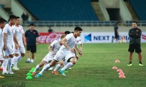 ĐT Việt Nam làm quen sân Mỹ Đình, sẵn sàng 'quyết đấu' với ĐT UAE